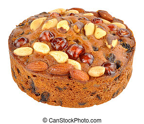 Fruit And Nut Genoa Cake - Fruit filled Genoa cake topped...