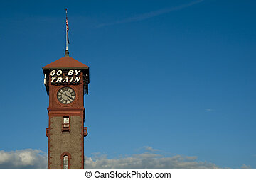 Go By Train - Tower, Union Station, train station, Portland...