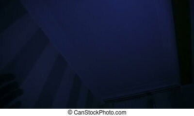 Scary Shadows On Ceiling - Scary shadows of a hand on...