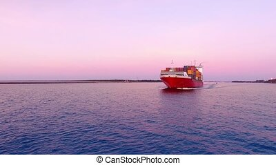 HD - in front of cargo ship