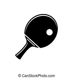 Simple table tennis icon - Black vector simple table tennis...