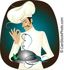 Chef - Vector illustration of chef