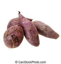purple sweet potato - fresh purple sweet potato isolated on...