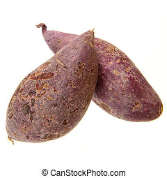 purple sweet potato - fresh purple sweet potato isolated on...