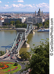 Landscape on Budapest and Danube taken in August