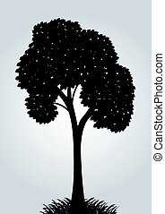 Silhouette of a vector tree