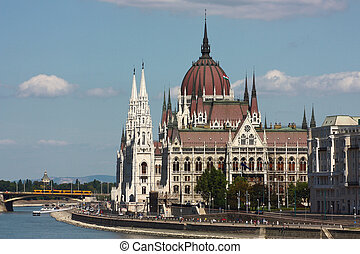 Hungarian parlament - Landscape of Budapest on parlament...