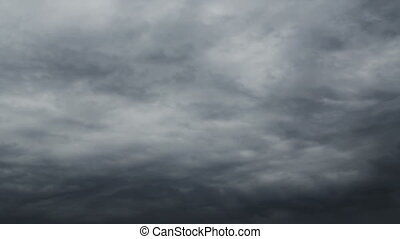 Grey Sky Timelapse - Grey rainy sky moving timelapse