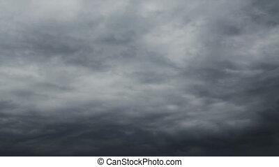 Grey Sky Timelapse - Grey rainy sky moving timelapse