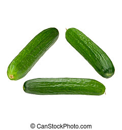 cuke collection - collection of three small cucumber...