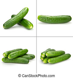cuke collection - collection of small cucumber isolated on...