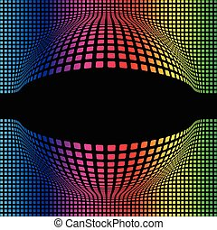 Abstract Multicolor Spherical Background