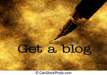 Get a blog text and fountain pen