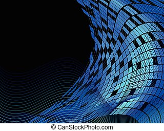 Abstract background made from squares and waves