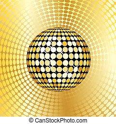 abstract gold disco ball
