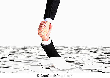 One hand helps no to sink in the sea of paper, bureaucracy...