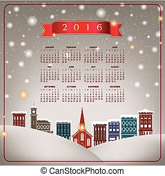 A 2016 quaint Christmas Calendar - A 2016 quaint Christmas...