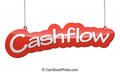 red vector background cash flow - This is red vector...