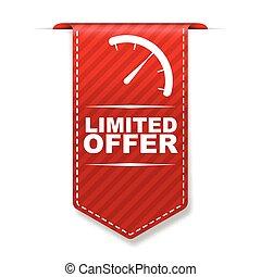 red vector banner design limited offer