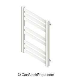 Heater towel rail isometric icon vector grasphic...