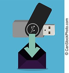 pen drive design - pen drive design, vector illustration...