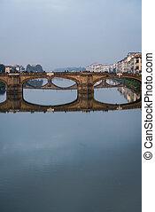 Florence bridge portrait