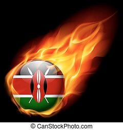 Round glossy icon of Kenya - Flag of Kenya as round glossy...