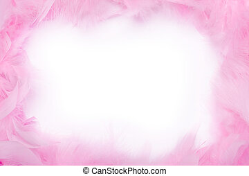 Feather boa frame - Pink feather boa frame