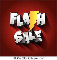 Impression - Flash Sale with thunder on background vector...
