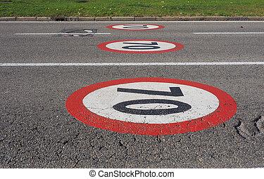 Maximum speed sign - Regulatory signs, Maximum speed limit...