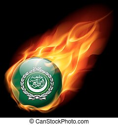 Round glossy icon of Arab League
