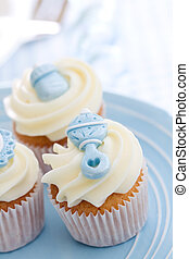 Cupcakes for a baby shower