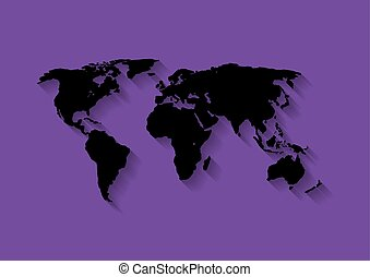 The World Map Background