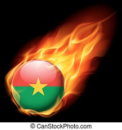 Round glossy icon of Burkina Faso - Flag of Burkina Faso as...