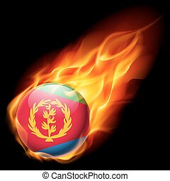 Round glossy icon of Eritrea - Flag of Eritrea as round...
