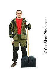Full length portrait of a cleaner i
