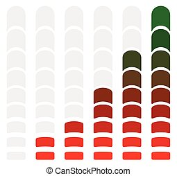 Progress or loading bars in sequence with units. - level,...