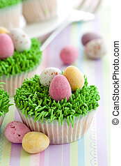 Easter cupcakes - Cupcakes decorated with an Easter theme