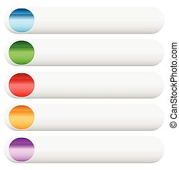 Empty button, banner background in more colors.