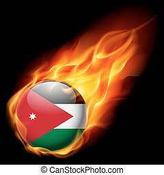 Round glossy icon of Jordan - Flag of Jordan as round glossy...