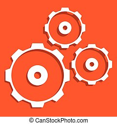 Abstract gear wheel, gear, cogwheel graphic Vector