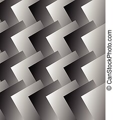Grayscale pattern with rectangles overlapping. Vector art.