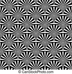 Abstract pattern with starburst shapes. Vector art.
