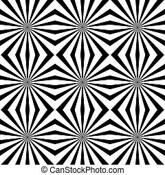 Seamless pattern with radiating lines, starburst texture...