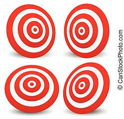 Red target vector icon. Precision, efficiency,...