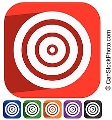 Red target vector icon Precision, efficiency, effectiveness...