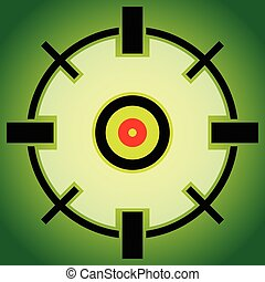 Target mark, reticle, cross hair vector graphic