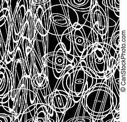 Abstract vector image with squiggly, squiggle lines