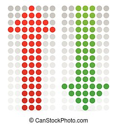 Green and red, up and down arrow Vector