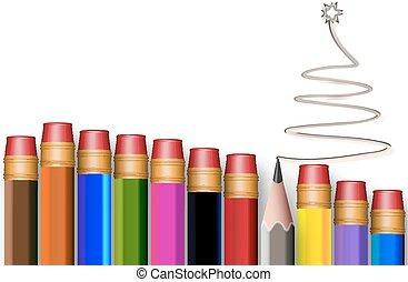 The concept of multi-colored pencil